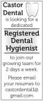 Castor Dental is looking for a dedicated Registered Dental Hygienist
