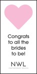 Congrats to all the brides to be!