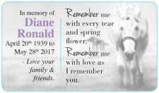 In memory of Diane Ronald